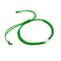 Pulsera base Verde macrame con cierre nudo ajustable y detalles de acero