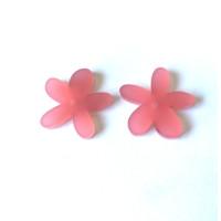 Plexy rosa frost - Colgante margarita  25 mm, int 1.2 mm