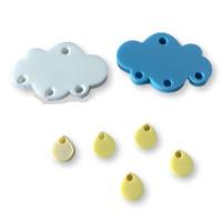 Colgante mini gota de plexy amarillo pastel 7 mm ( para combinar con las nubes PXC-101) - 1 unidad