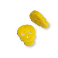 Plexy amarillo limon - Colgante calavera 20 mm, int 1.2 mm
