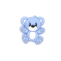Osito de silicona 30x25 mm-  Azul bebe