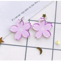 Colgante florecilla de plexy lila 19x19 mm