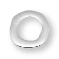 Entrepieza Zamak baño plata aro irregular 23 mm, int 15 mm