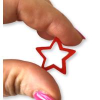 Plexy rojo - Colgante y entrepieza estrella hueca 20 mm, int 1.5 mm