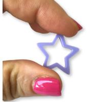 Plexy lila pastel - Colgante y entrepieza estrella hueca 20 mm, int 1.5 mm