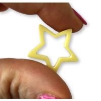 Plexy amarillo pastel - Colgante y entrepieza estrella hueca 20 mm, int 1.5 mm