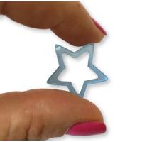 Plexy cristal blue - Colgante y entrepieza estrella hueca 20 mm, int 1.5 mm