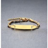 Esclava dorada de acero BEBE para grabar personalizado (12 cm + 3 cm extendedora)