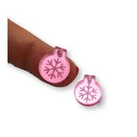 Plexy rosa espejo - Colgante bola navidad peque 15x13 mm, int 1.5 mm