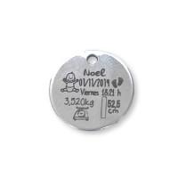 Natalicio bebe acero inox moneda 20 mm (ac002)