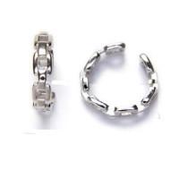 Pendiente de Cartilago earcuff en plata de ley - Aro cadena - 1 ud