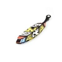 Plexy multicolor - Colgante pluma colorida 60x16 mm