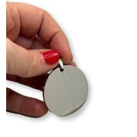 Chapa acero inoxidable pulida doble cara redonda para grabar 40 mm, 2 mm grosor