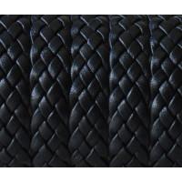 Cuero calidad superior 100% trenzado plano negro 12x2 mm ( 20 cm)