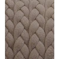 Cuero trenzado 100% plano beige 6.5x2 mm ( 20 cm)
