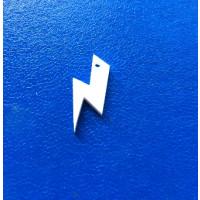 Plexy blanco - Colgante rayo 20 mm, int 1.5 mm