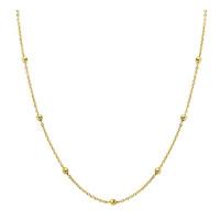 Cadena dorada forzada gargantilla collar Plata de ley-  Con bolitas de 2 mm -38 cm
