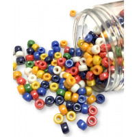 Rondeles cristal 9 mm, int 3 mm- Colores opacos brillo multicolor mix - 20 uds