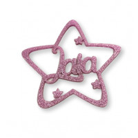 Estrella Navidad PLEXY color (escoge)  9 cm nombre personalizado POR ENCARGO  (15 días aprox)