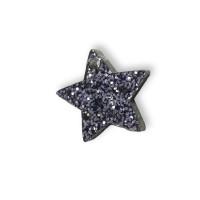Plexy negro glitter - Colgante estrella 15 mm, int 1.2 m