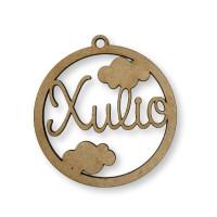 Nombre personalizado - Circulo nubes infantiles 9 cm- POR ENCARGO  (15 días laborables aprox)