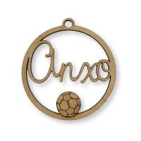 Nombre personalizado - Circulo futbol 9 cm- POR ENCARGO  (15 días laborables aprox)