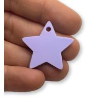 Plexy lila pastel - Colgante estrella 28 mm, int 1.5 mm