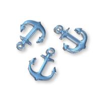 Plexy cristal blue - Colgante ancla 20 mm, int 1.5 mm