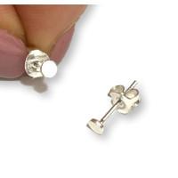 Circulo mini 3 mm - Pendientes plata de ley ( 1 par)