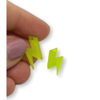 Plexy verde lima - Colgante rayo 20 mm, int 1.5 mm