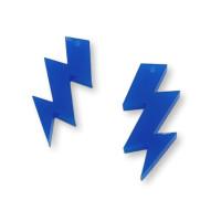 Plexy azul electrico - Colgante rayo triple 30 mm, int 1.5 mm