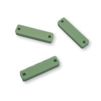 Plexy verde pastel - Rectangulo palito entrepieza 20x5 mm ( ideal tallos)