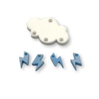 Colgante mini rayo azul pastel plexy 10 mm ( para combinar con las nubes PXC-101)