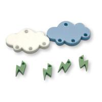 Colgante mini rayo verde pastel plexy 10 mm ( para combinar con las nubes PXC-101)