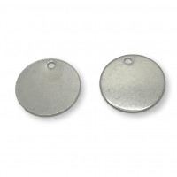 Moneda chapita de acero lisa, ideal grabar 25 mm , int 2.8 mm