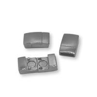 Cierre magnetico de acero,  20x12 mm, int 10x2 mm ( se puede grabar)