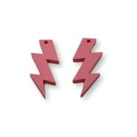 Plexy rosa pastel - Colgante rayo triple 30 mm, int 1.5 mm