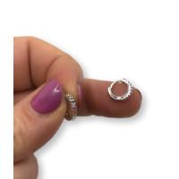 Aro mini plata ley rodiada 6 mm - Circonitas multicolor - 1 unidad