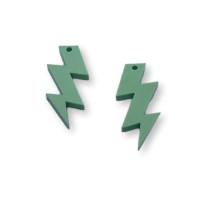 Plexy verde pastel - Colgante rayo triple 30 mm, int 1.5 mm