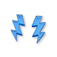 Plexy cristal blue - Colgante rayo triple 30 mm, int 1.5 mm