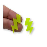 Plexy verde lima - Colgante rayo triple 30 mm, int 1.5 mm