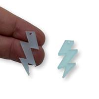 Plexy menta frost - Colgante rayo triple 30 mm, int 1.5 mm