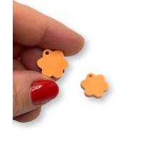 Colgante mini flor naranja pastel 15 mm - 1 unidad