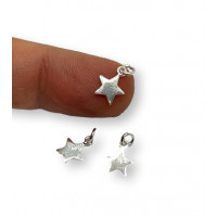 Colgante estrella mini Plata de Ley lisa  7 mm