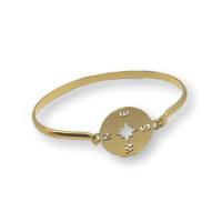 Base pulsera acero dorado caña 70 mm-  Modelo Rosa de los vientos