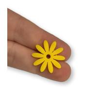 Plexy amarillo limon - Colgante flor petalos largos  21 mm, int 2 mm