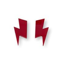 Aplique pegar plexy rayo grande  35x17 mm - Rojo - 2 uds