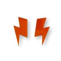 Aplique pegar plexy rayo grande  35x17 mm - Naranja - 2 uds