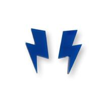 Aplique pegar plexy rayo grande  35x17 mm - Azul electrico - 2 uds