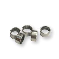 Entrepieza Zamak baño plata aro pasador rustico 12x6 mm, int 10 mm ( grabar)